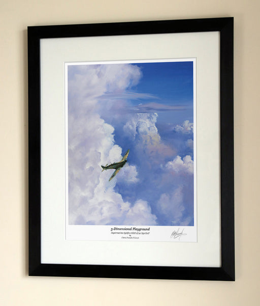 Three Dimentional Playground - Supermarine Spitfire - Framed Print