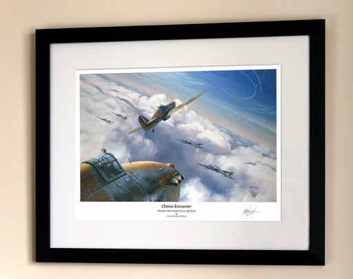 Chance Encounter - Hawker Hurricane - Framed Print