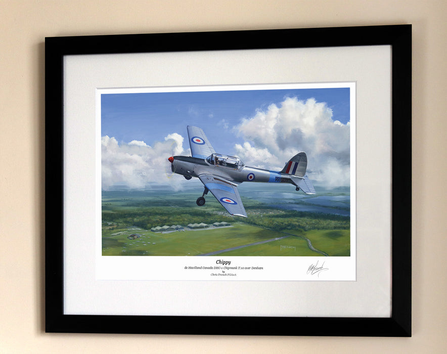 Chippy - de Havilland Chipmunk - Framed Print