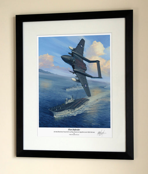 Fleet Defender De Havilland Sea Vixen - Framed Print