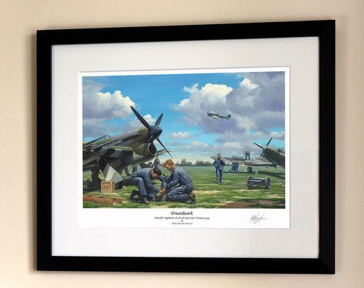 Groundwork - Hawker Typhoon - Framed Print