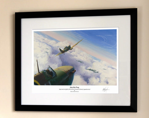 Into The Fray - Supermarine Spitfire - Framed Print