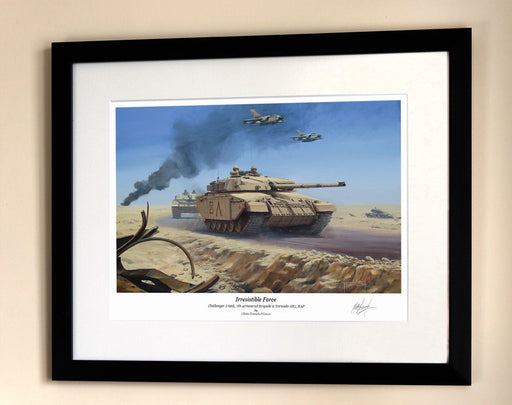 Irresistible Force - Challenger I Tank and Panavia Tornado - Framed Print