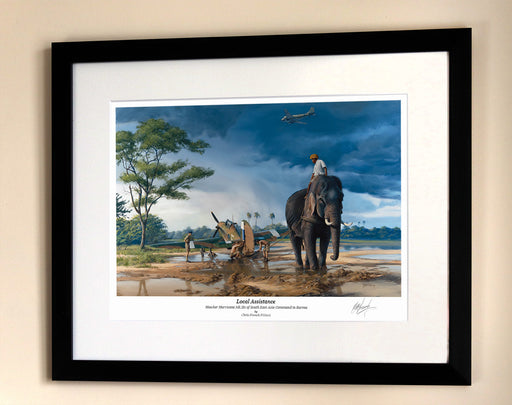 Local Assistance - SEAC Hawker Hurricane - Framed Print