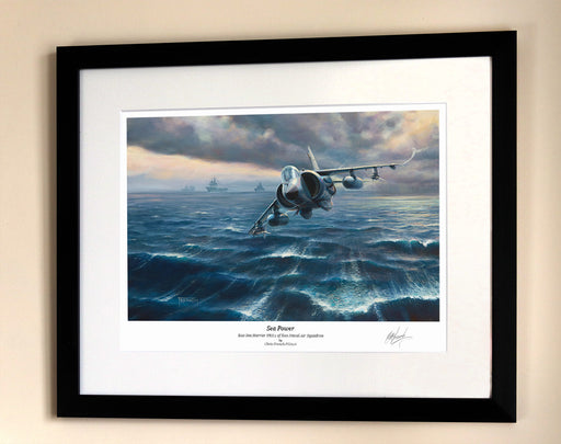 Sea Power - Sea Harrier FRS.1 - Framed Print