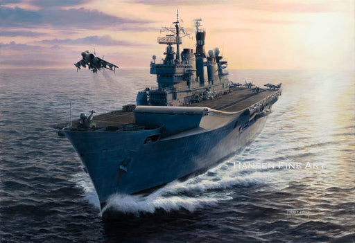 Lusty - HMS Illustrious (R06) - Original Painting