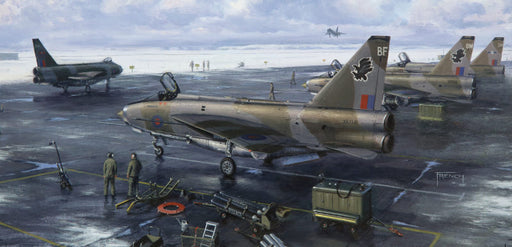 Chris French FGAvA - The Line In Winter - English Electric Lightning (W)