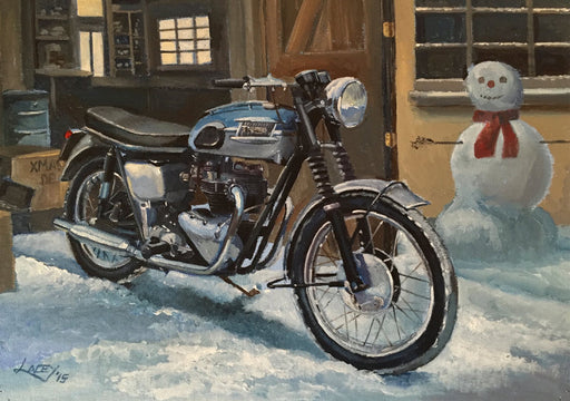 Lee Lacey - A Very Bonnie Christmas - Triumph Bonneville (W)