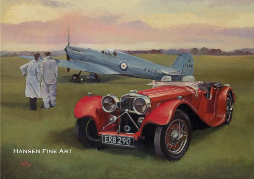 Lee Lacey - Superstars of 36 - SS100 Jaguar and Supermarine Spitfire (W)