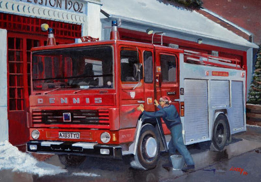 Lee Lacey - Christmas Wash & Brush Up - Dennis SS131 Fire Engine (W)