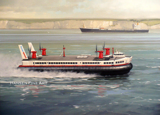Hovercraft to the Continent - Hoverspeed SRN.4