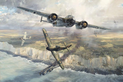 Combat Over The Channel  - Dornier Do 17 and Hawker Hurricane