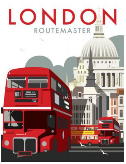 Dave Thompson - Routemaster London Bus Print