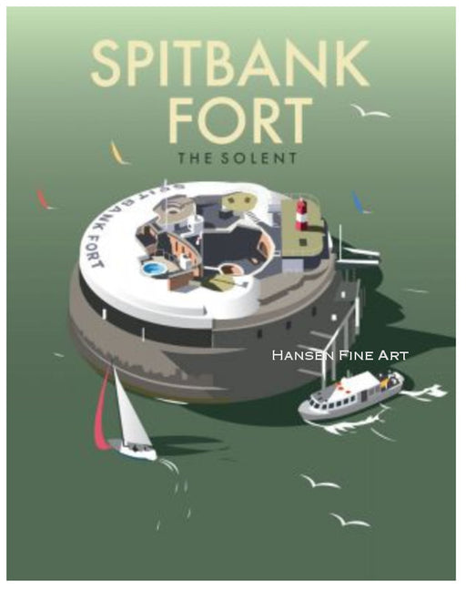Dave Thompson - Spitbank Fort Print