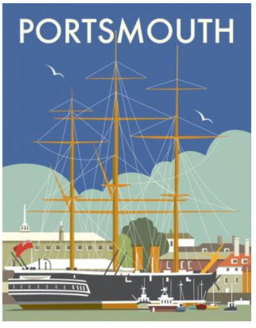Dave Thompson - Portsmouth - HMS Warrior Art Print