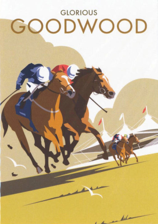 Glorious Goodwood - Horse Racing Art Deco Print