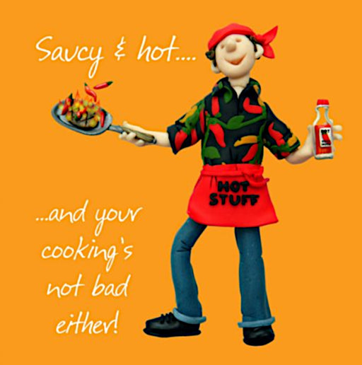 Erica Sturla - Saucy and Hot - Chef - Cook Birthday Card