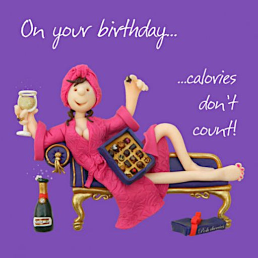Erica Sturla - Calories Don't Count Birthday Card