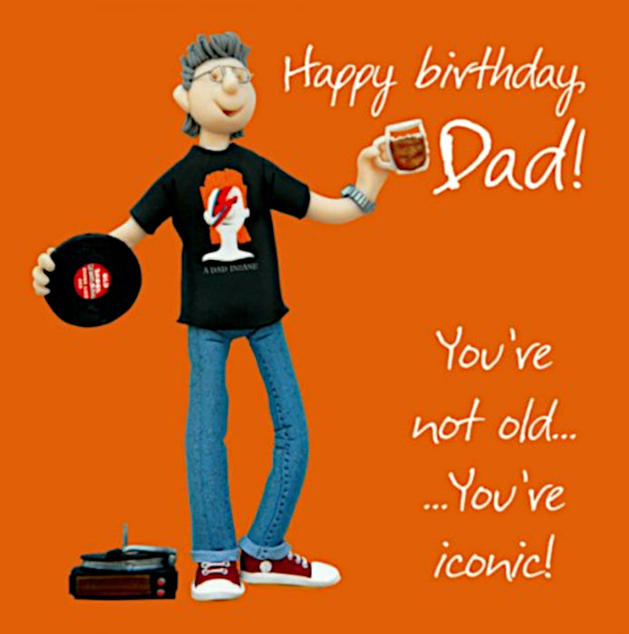 Erica Sturla - Iconic Dad - Dad Birthday Card