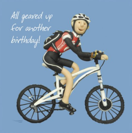 Erica Sturla - All Geared Up  Male- Cycling Birthday Card