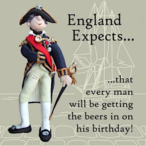 Erica Sturla - England Expects - Lord Nelson Navy Birthday Card