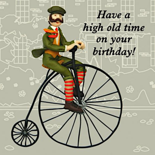 Erica Sturla - High Old Time - Penny Farthing Birthday Card