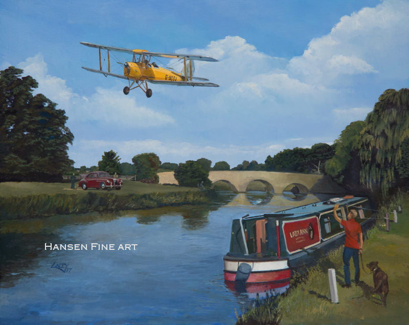 Lee Lacey - Summer Pleasures - De Havilland Tiger Moth Card (W)