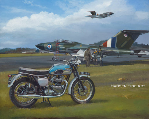 Lee Lacey - The Big Twins- Triumph Bonneville and Gloster Javelin (W)