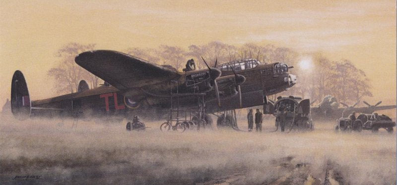 Philip E. West - Misty Morning - Avro Lancaster