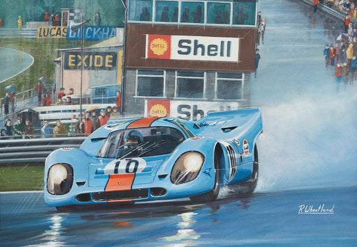 Why Doesn't Someone Tell Pedro It's Raining - Gulf Porsche 917 - Pedro Rodriguez