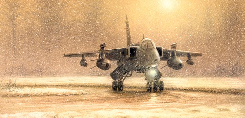 Stephen Brown - Jaguar In The Snow - SEPECAT Jaguar
