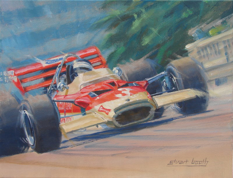Final Fling - Jochen Rindt Lotus 49 Original Painting