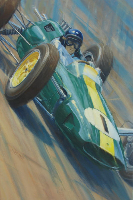 Jimmy - Jim Clark Lotus 25 Original Painting