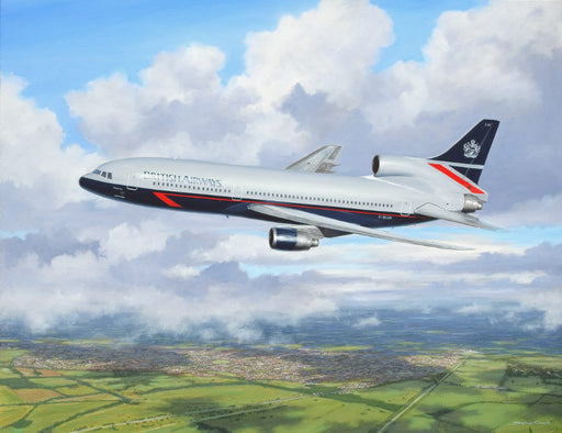 Heavy Out of Heathrow - Lockheed TriStar Original Painting
