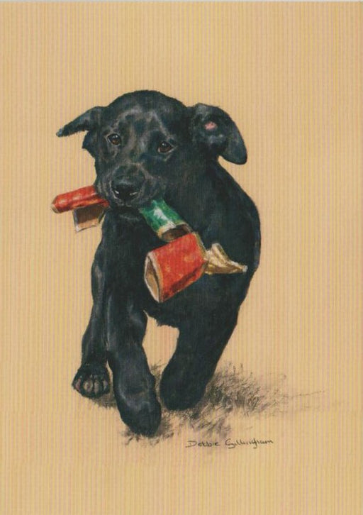 Debbie Gillingham - Pull The Other One - Black Labrador