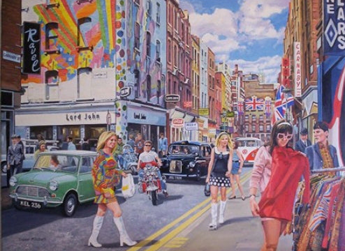 Trevor Mitchell - Life On Carnaby St - 1960s Fashion Card