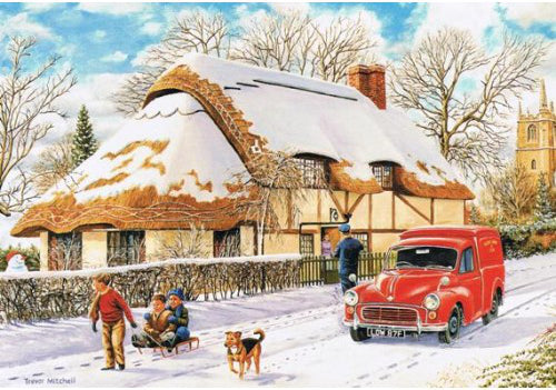 Trevor Mitchell - Delivering a Christmas Parcel - Morris Minor V