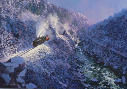 John Austin - Aberglaslyn Winter - Welsh Narrow Gauge (W)