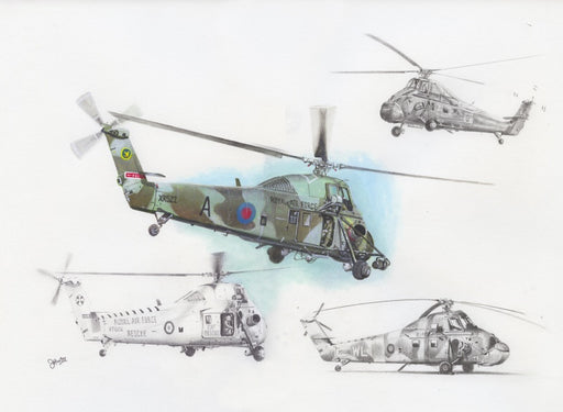 Wonderful Wessex - Westland Wessex Helicopter Original Drawing