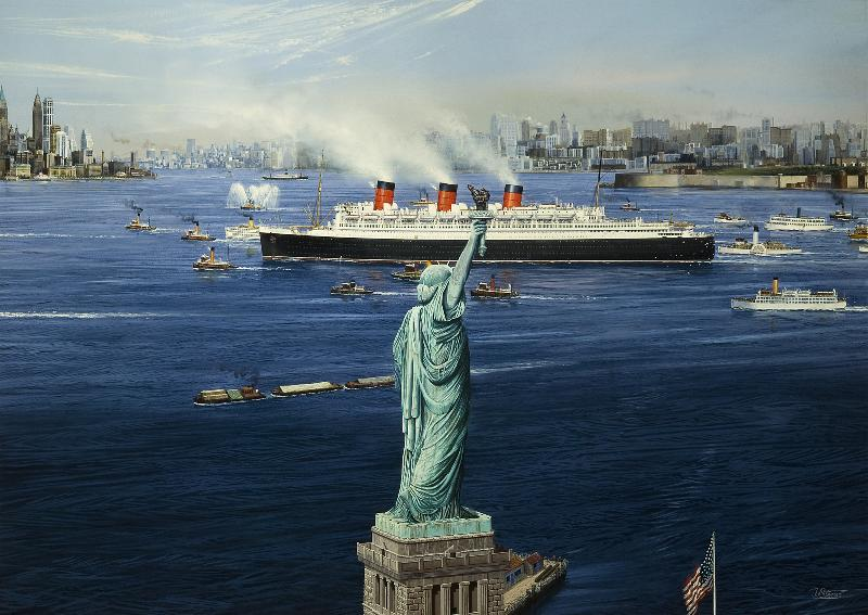 The Queen's Arrival - RMS Queen Mary
