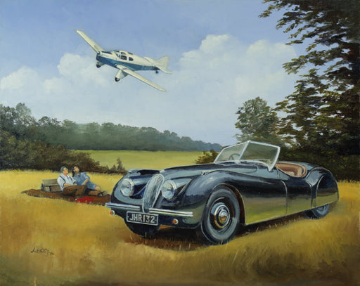 The Interruption - Jaguar XK120 & Miles M.3 Falcon