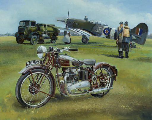 Lee Lacey - The Speed Twins - Triumph Speed Twin & Hawker Tempest (W)