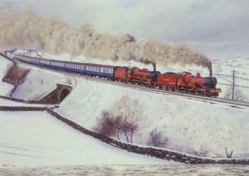 Malcolm Root - Snow on the Settle - Jubilee Class