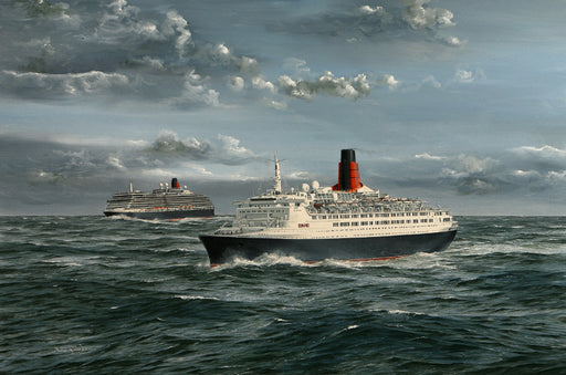 Sailing in Tandem - Queen Victoria & QE2