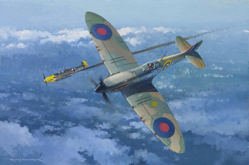 Bader Opens his Account- Supermarine Spitfire Original Painting