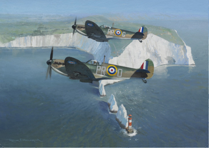 Roger H. Middlebrook - Patrolling the Needles - Supermarine Spitfire Card (W)