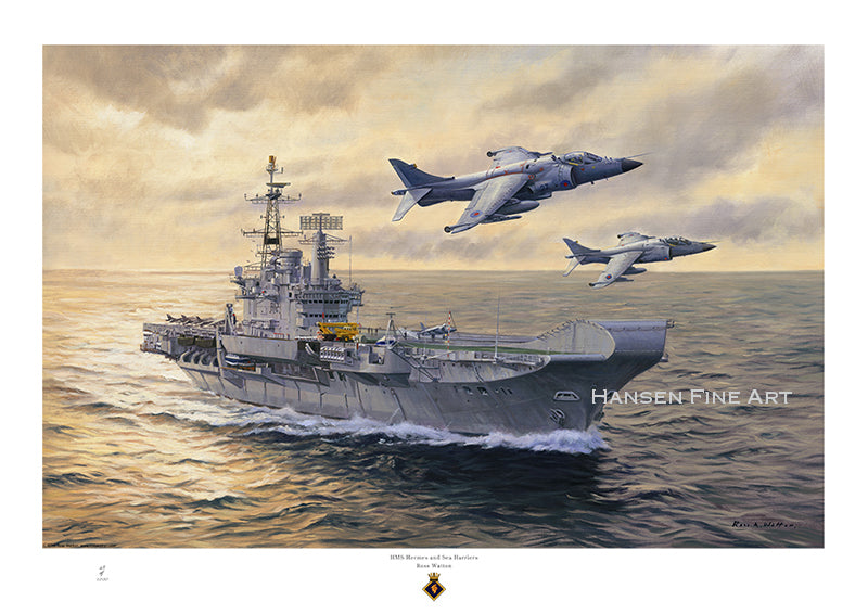 HMS Hermes & Sea Harriers