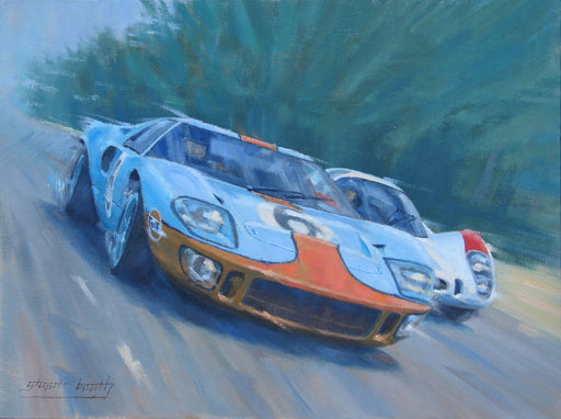 Close Finish - Jackie Ickx - Ford GT40