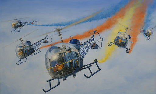 Blue Eagles - British Army Westland Sioux Original Painting