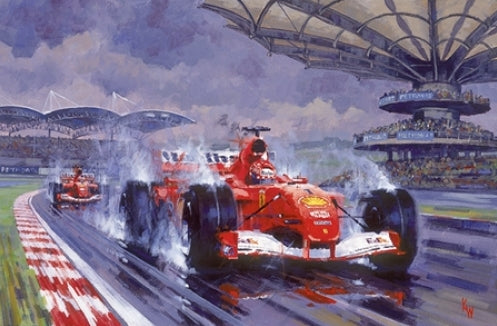 Keith Woodcock - Storming to a Win - Michael Schumacher